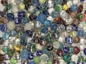 Eingefasste Glassteine