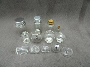 Glasfläschchen & hohle Glaskugeln