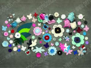 Blumen, Blätter, Schmetterlinge