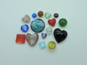 Silberfolie Perlen